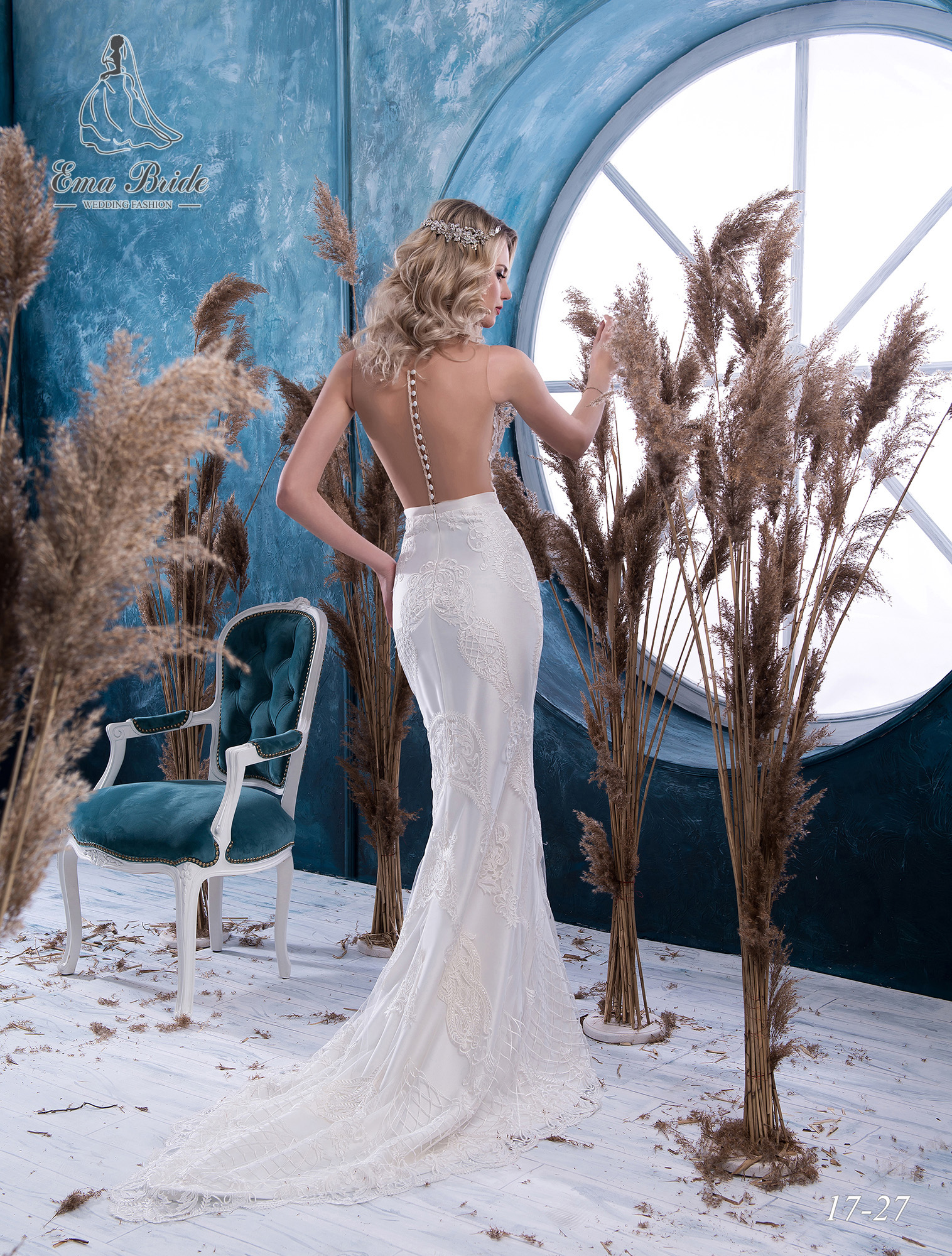 Fish silhouette wedding dress-2