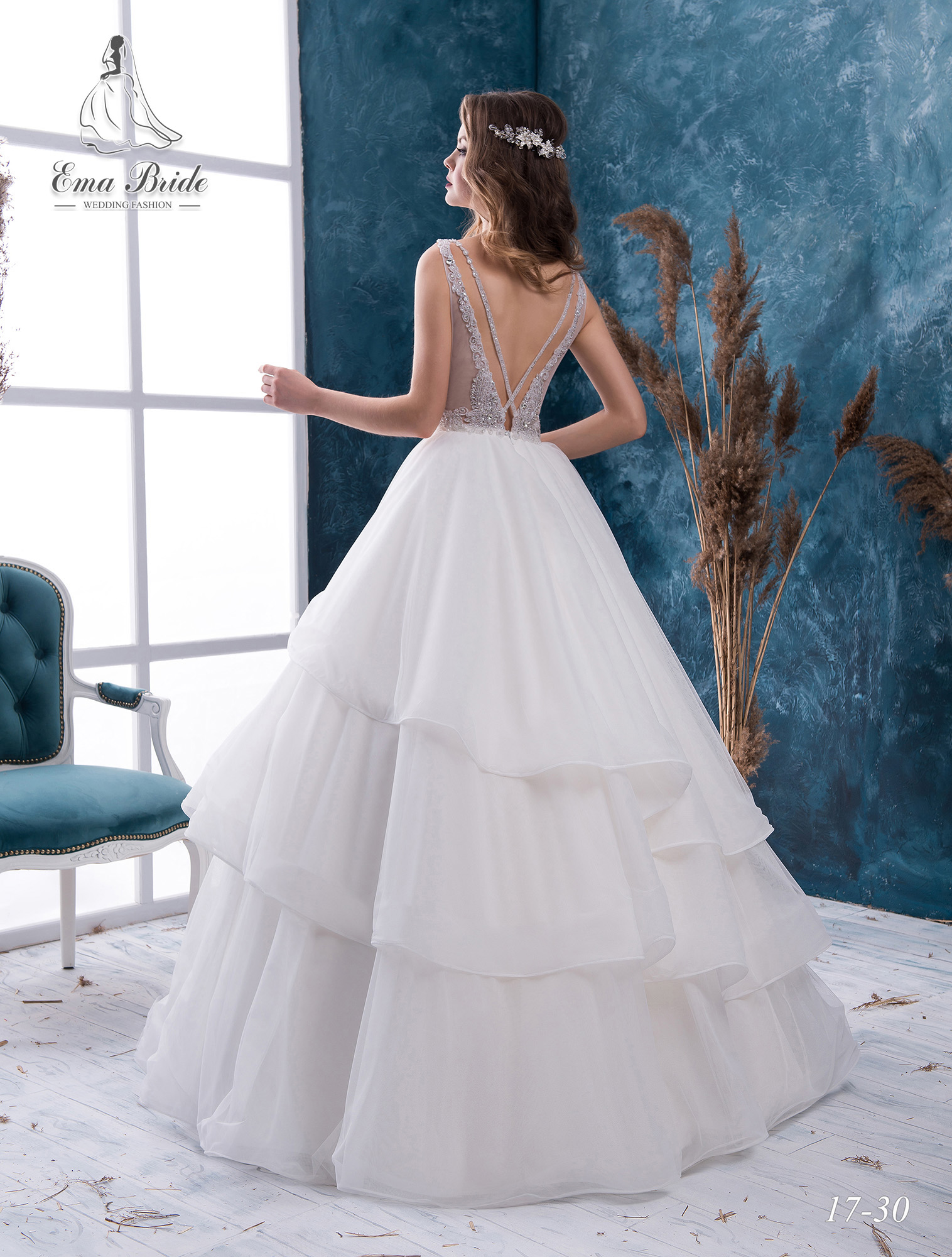 Open back wedding dress-2