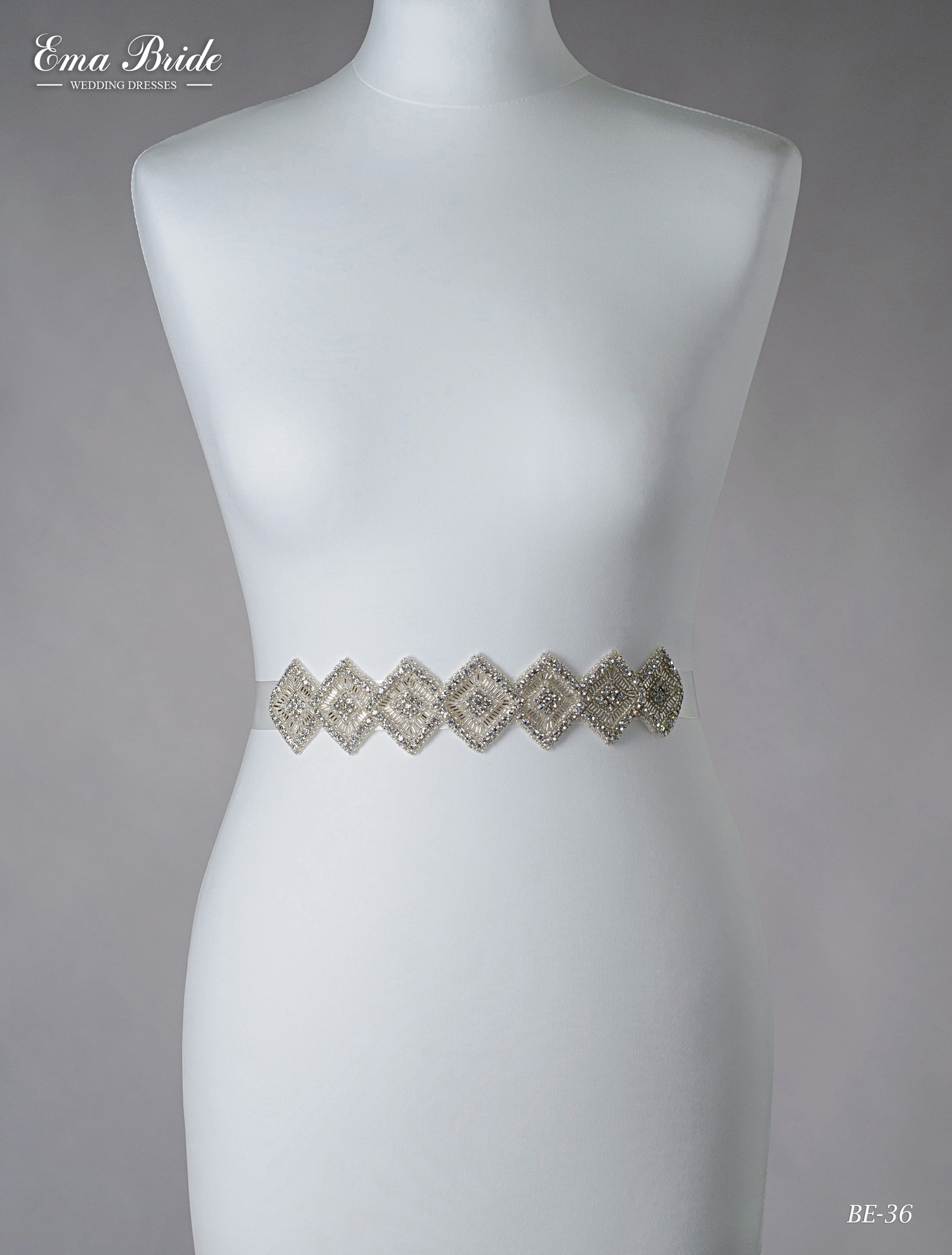 A belt for a wedding dress Be-36