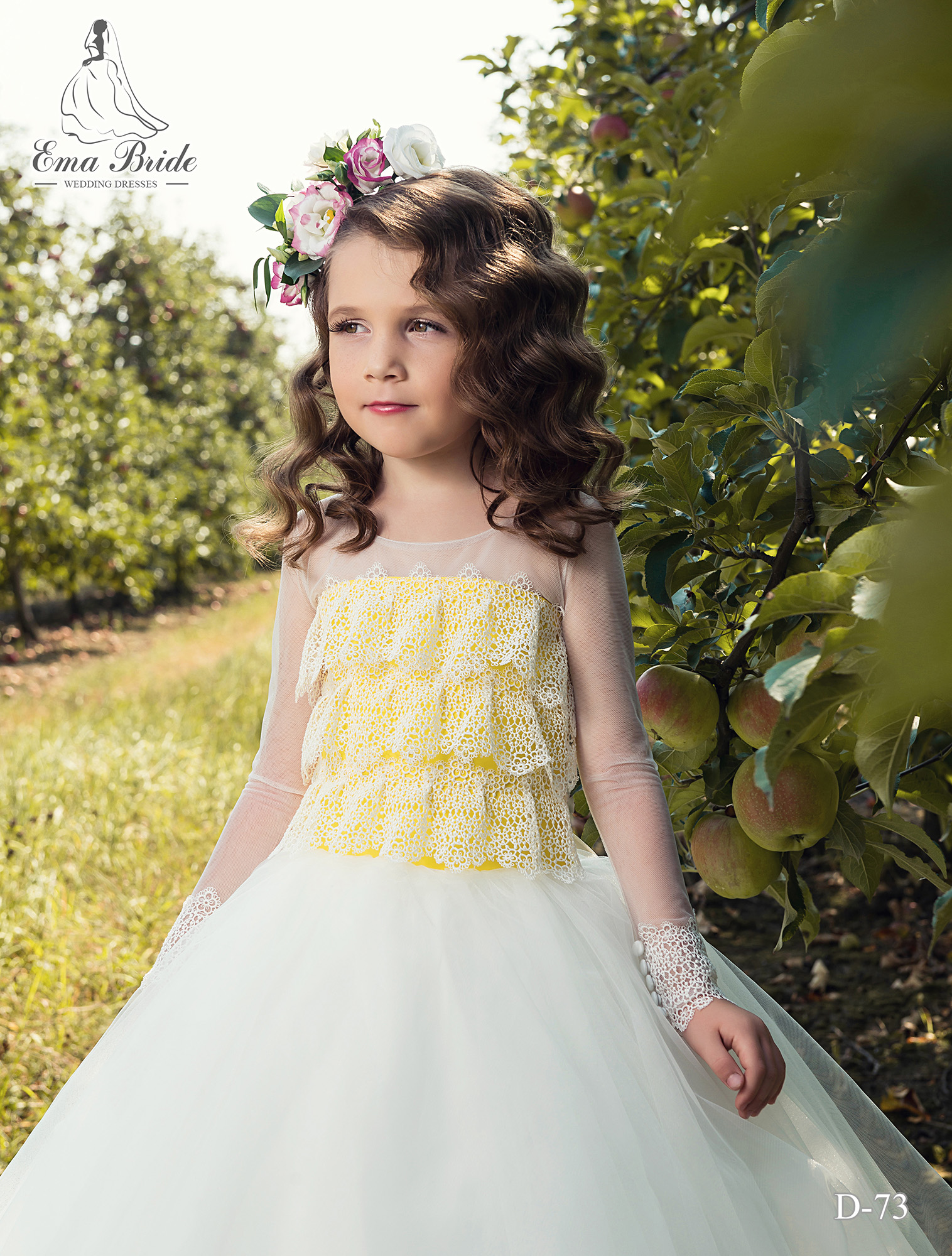 Children's dress D-73 on wholesale-1