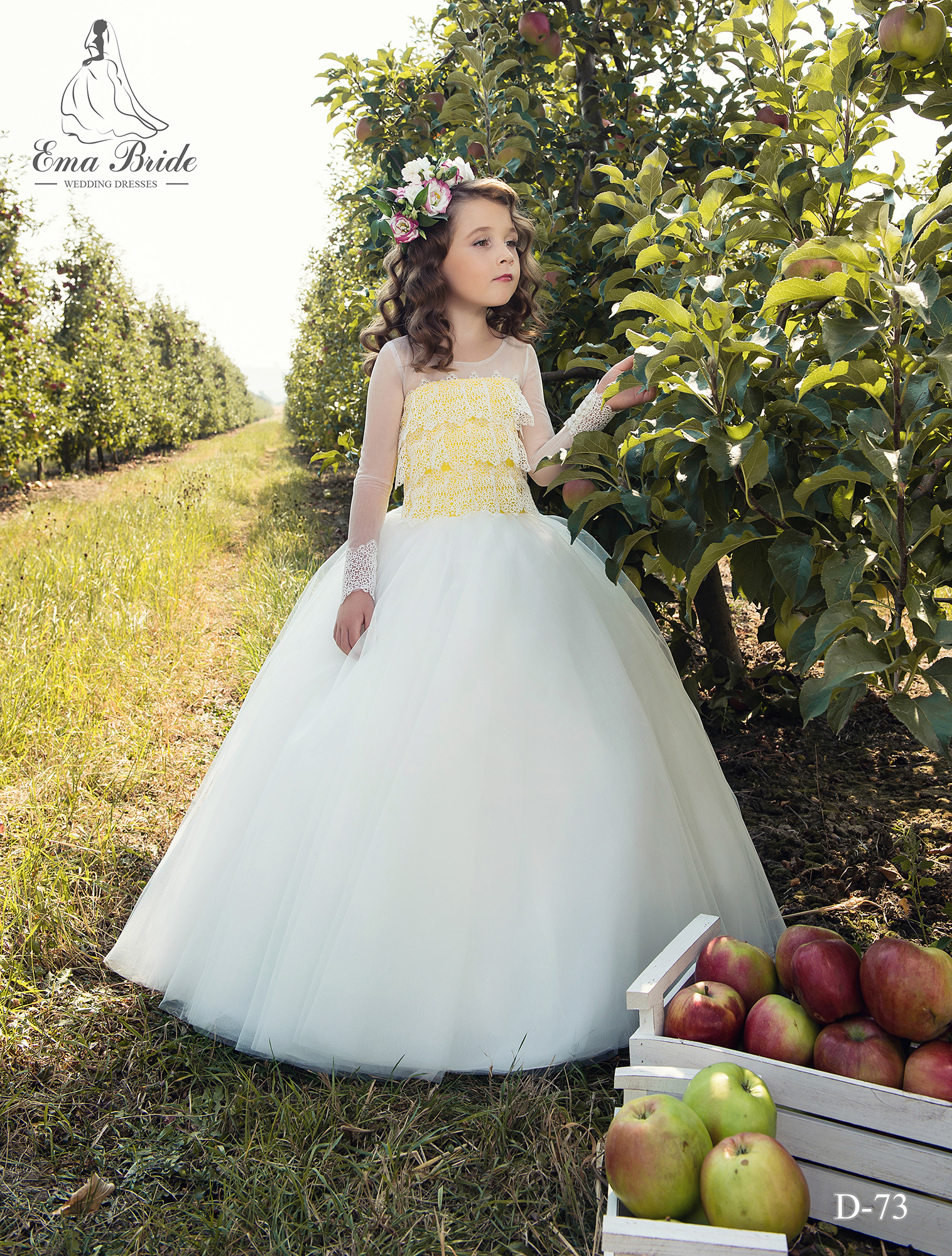 Children's dress D-73 on wholesale