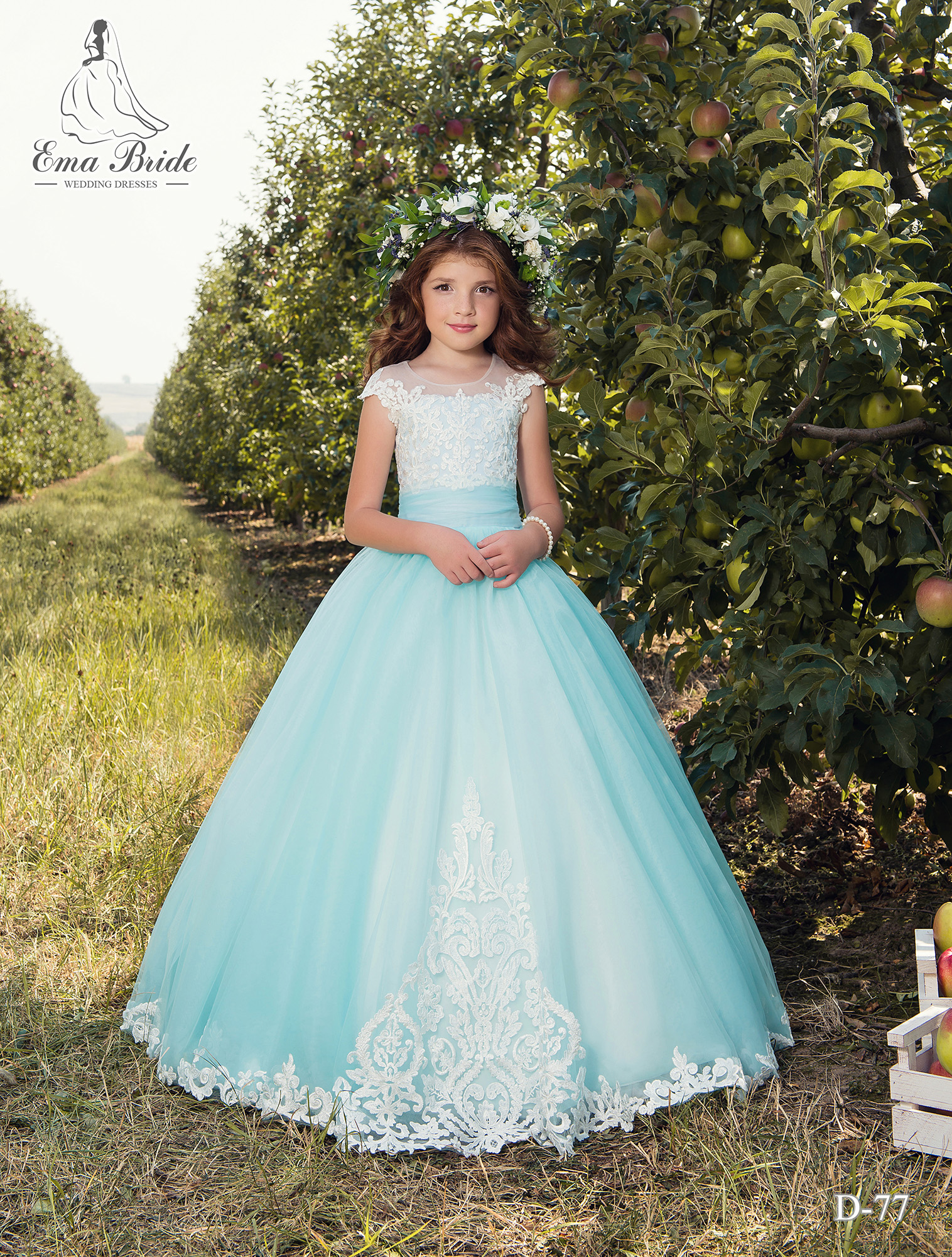 Blue and creamy children's lush dress