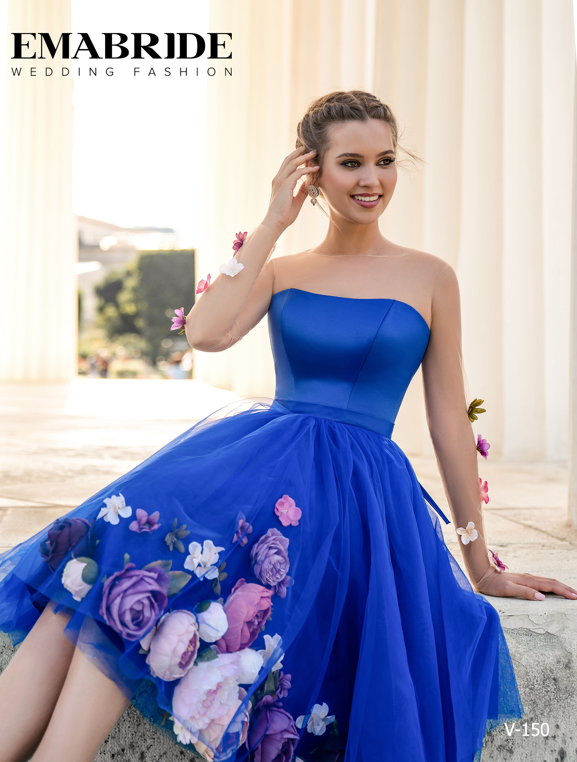 Model V-150 |  Buy evening dresses wholesale by the ukrainian manufacturer Emabride-1