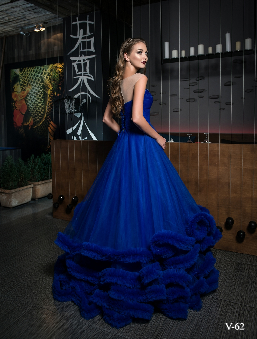 Evening dress V-62 on wholesale-2