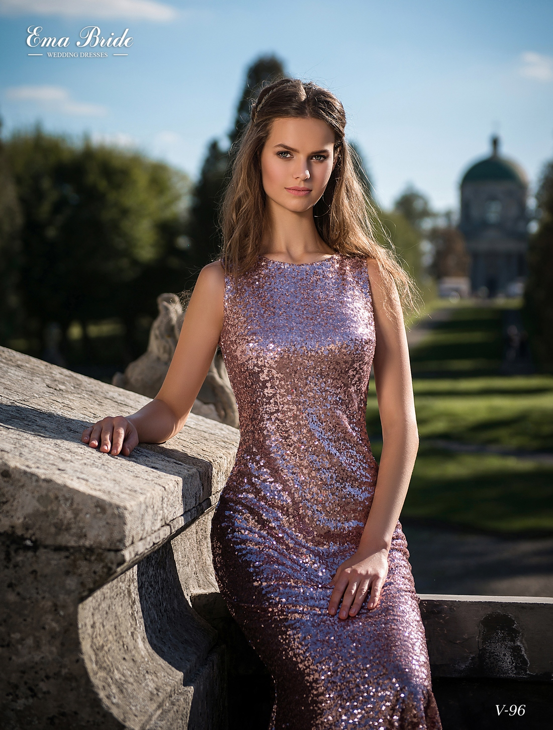 Black / pink evening shiny dress-4