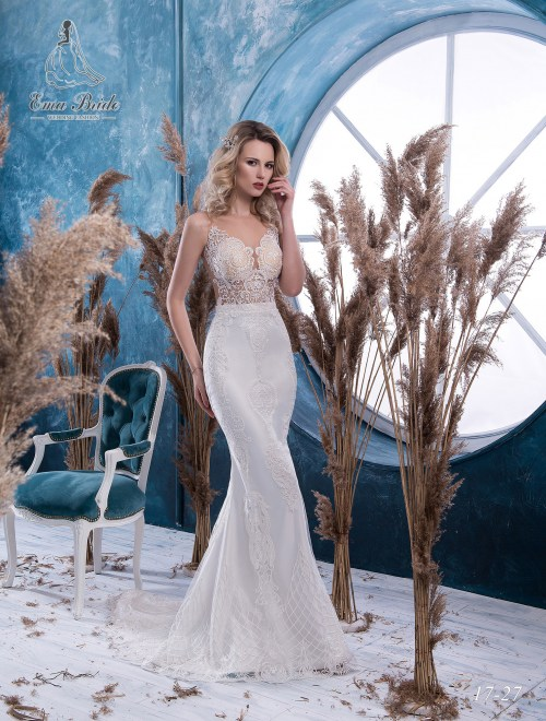 Fish silhouette wedding dress