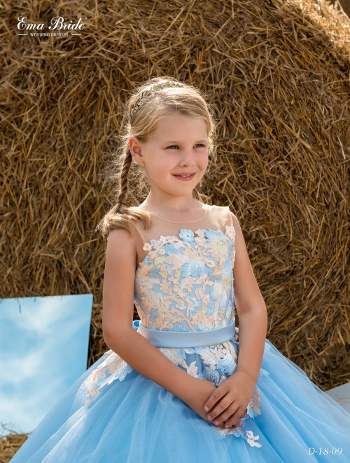 Children's dress D-18-09 on wholesale