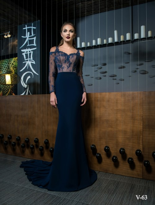 Evening dress V-63 on wholesale
