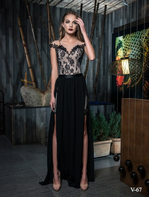 Evening dress V-67 on wholesale