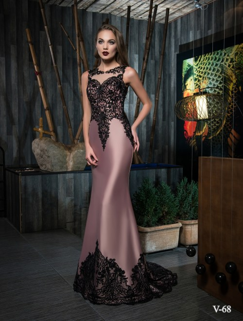 Evening dress V-68 on wholesale