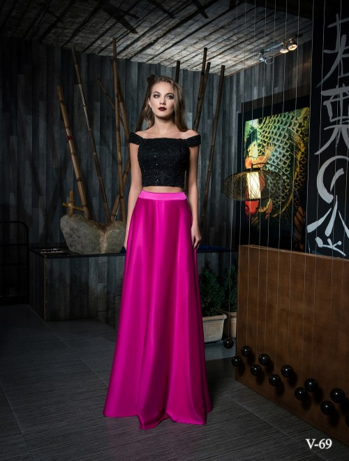 Two piece evening dress