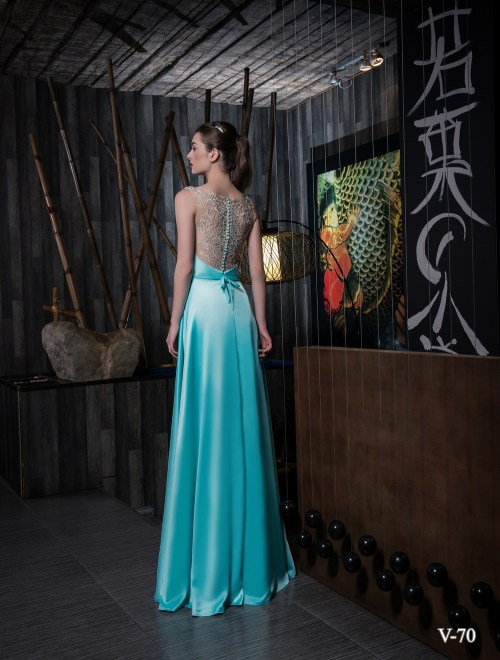 Evening dress V-70 on wholesale