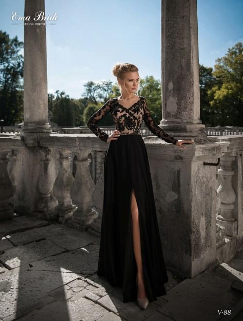 Черное вечернее платье фото