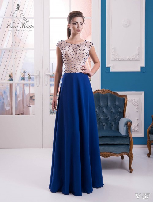 Evening dress v-37 on wholesale