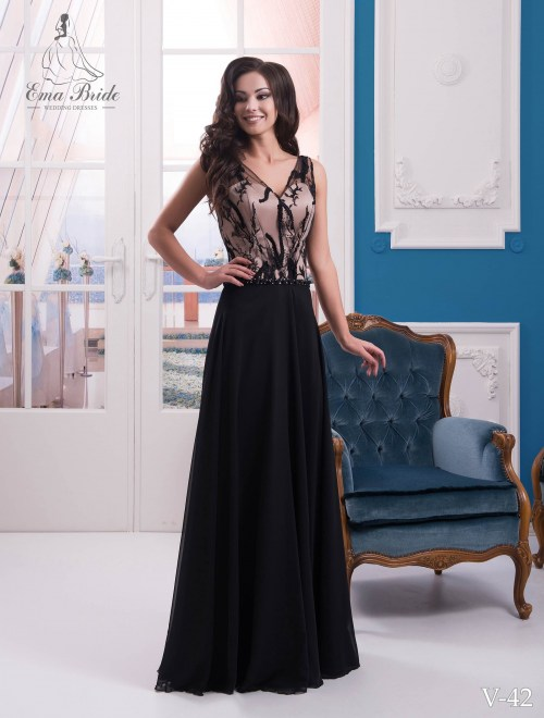 Evening dress v-42 on wholesale
