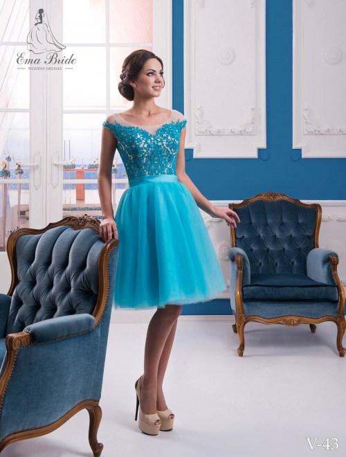 Evening dress v-43 on wholesale