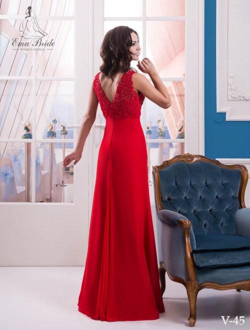 Evening dress v-45 on wholesale