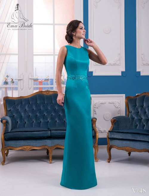 Evening dress v-48 on wholesale