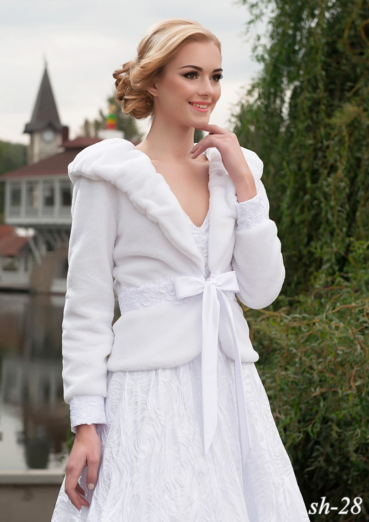 Wedding fur coat SH-28