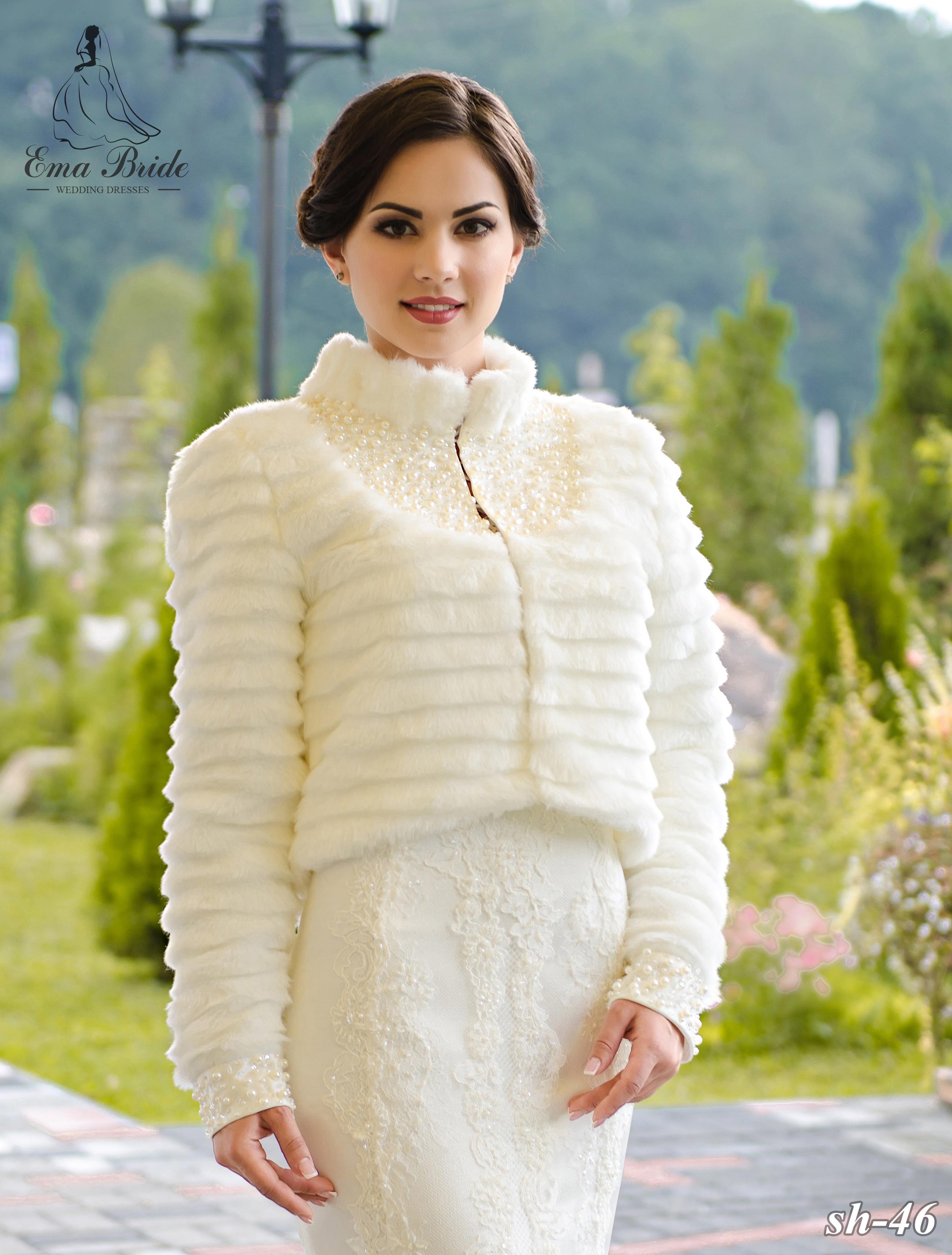 Wedding fur coat SH-46