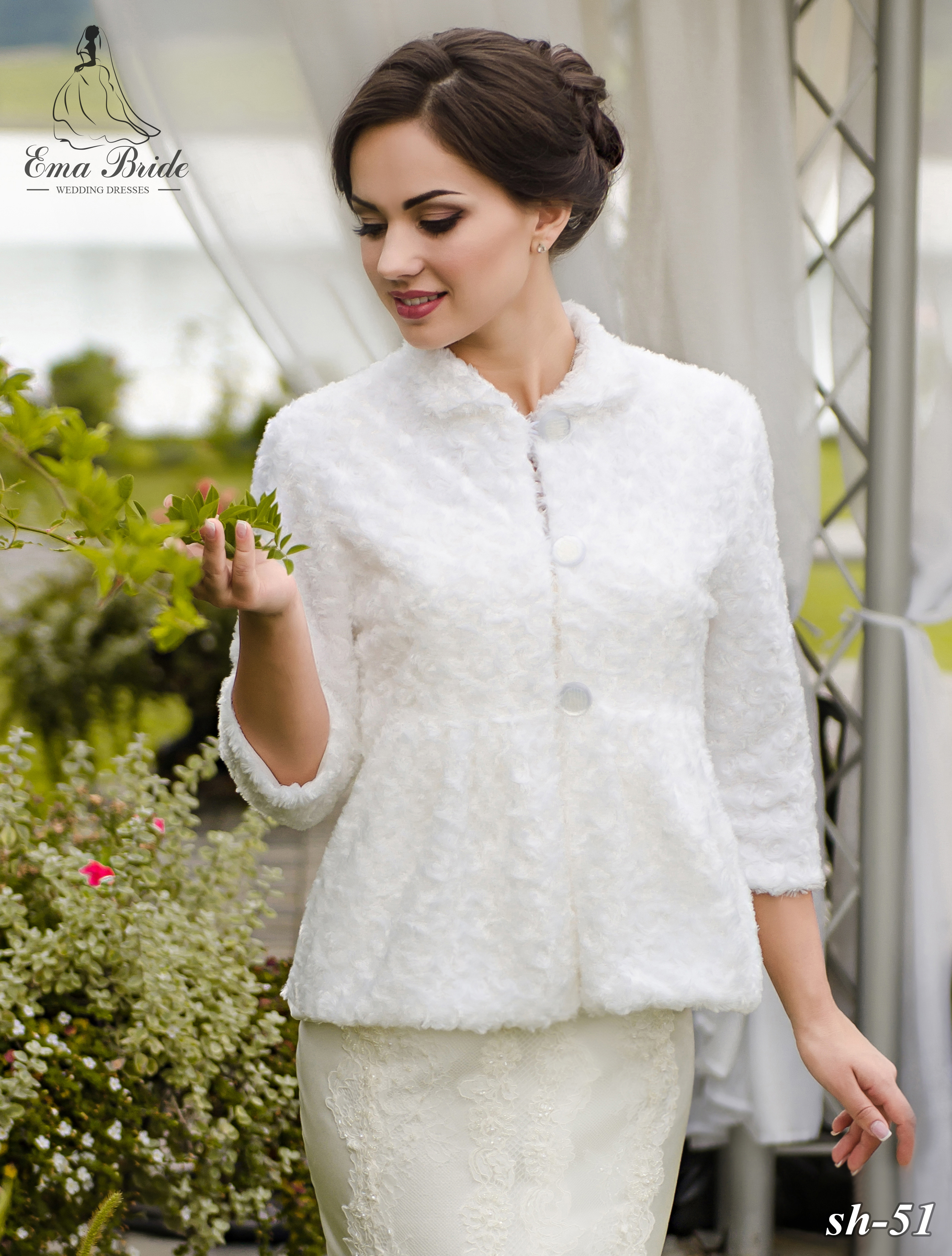 Wedding fur coat SH-51