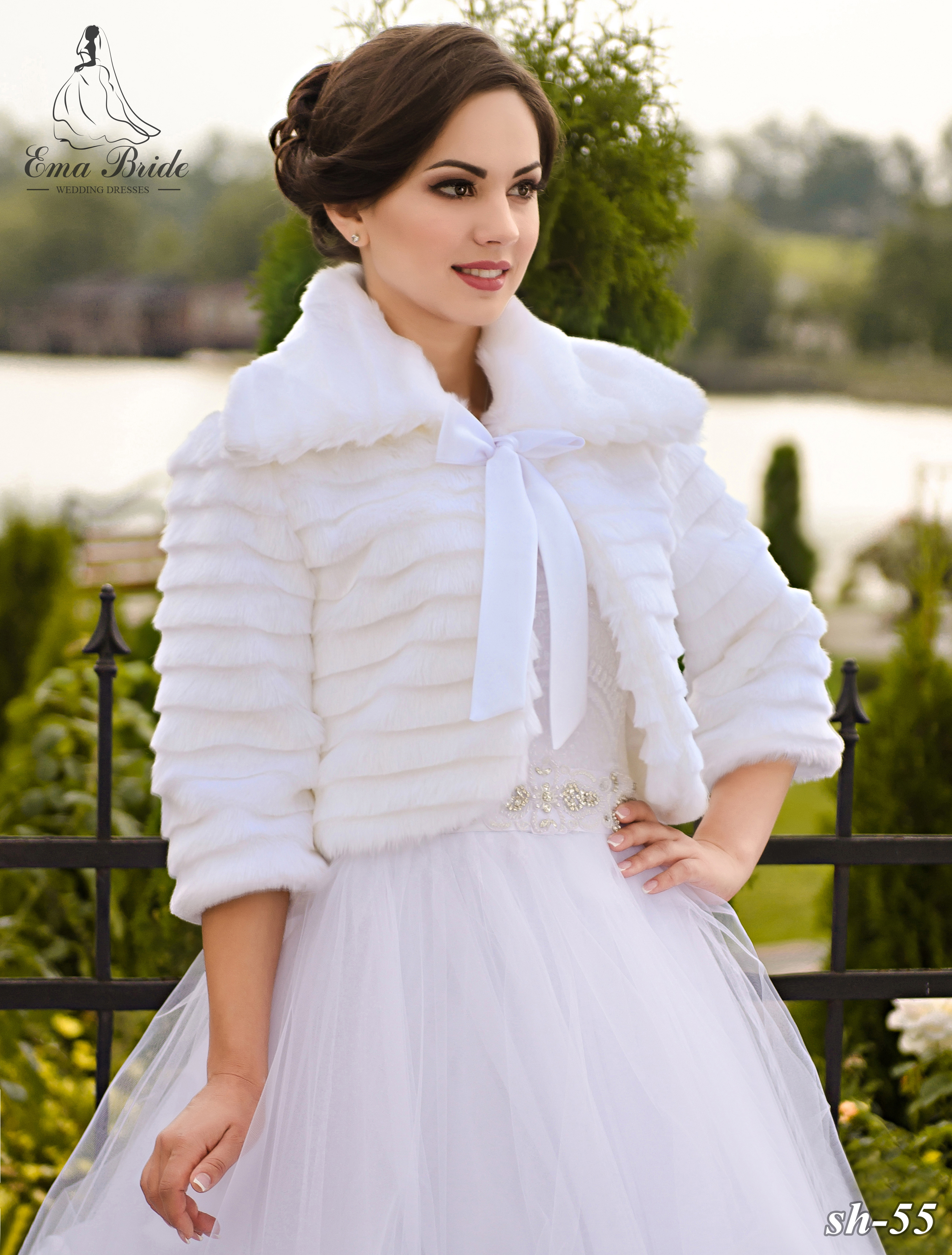 Wedding fur coat SH-55