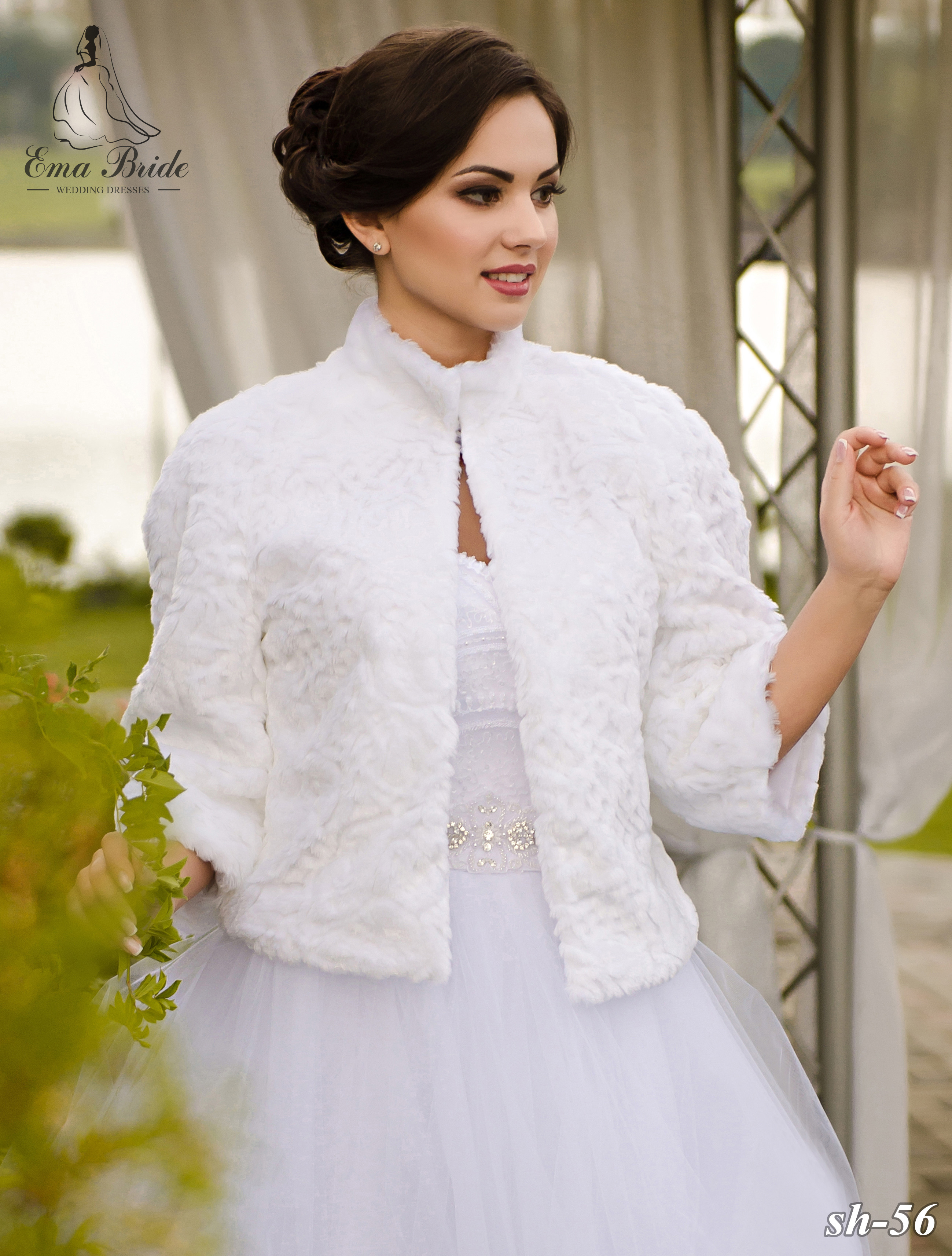 Wedding fur coat SH-56
