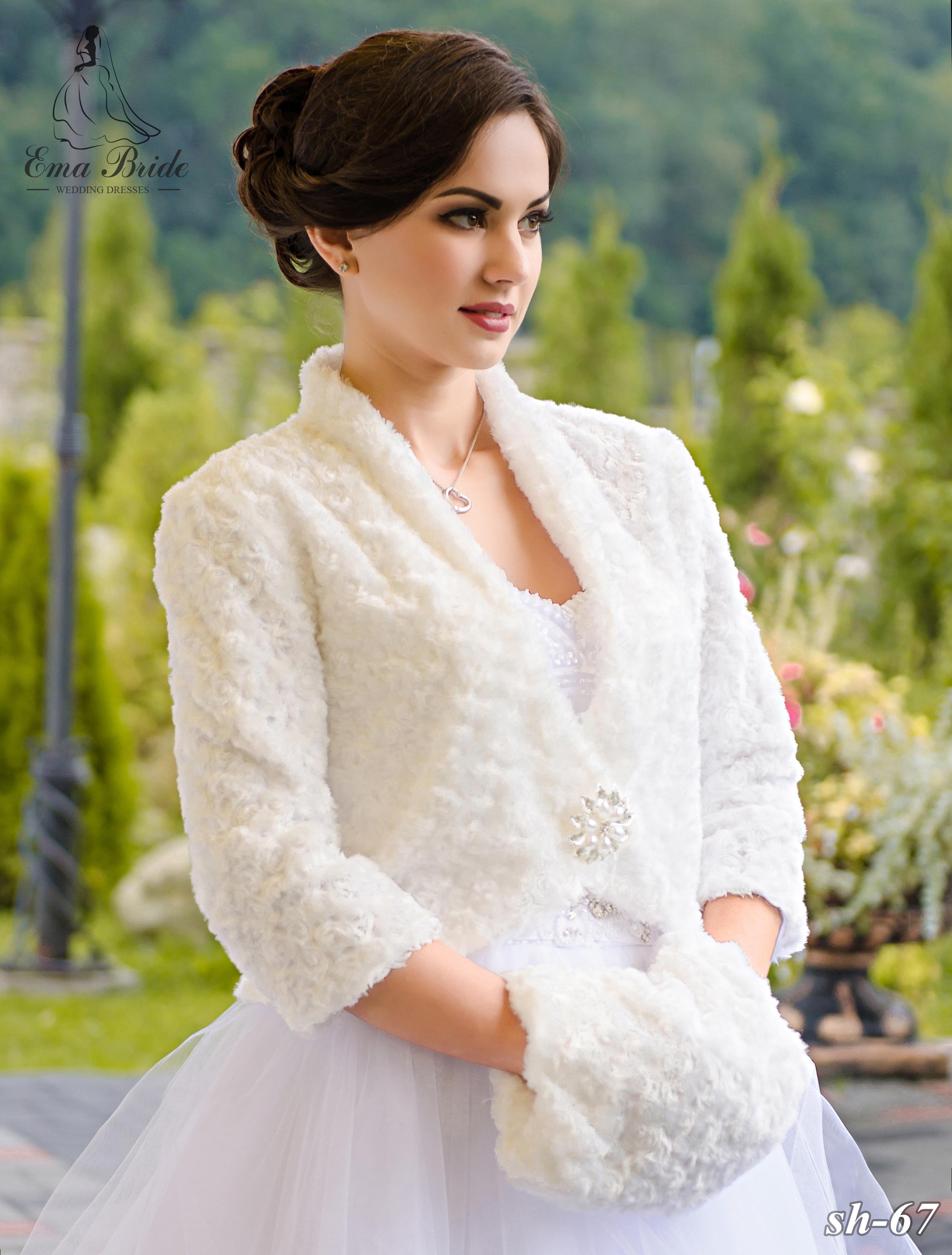 Wedding fur coat SH-67