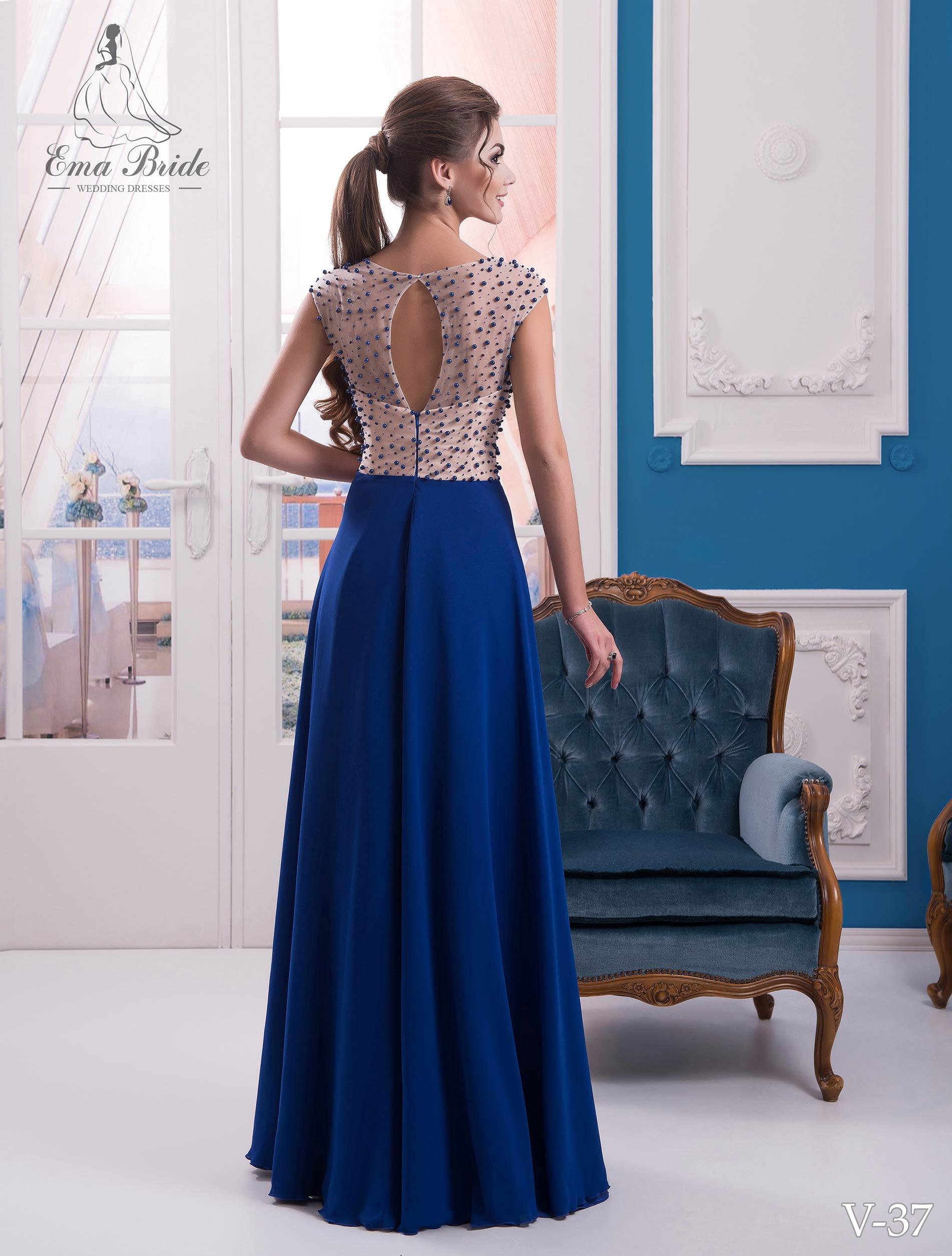 Evening dress v-37 on wholesale-2