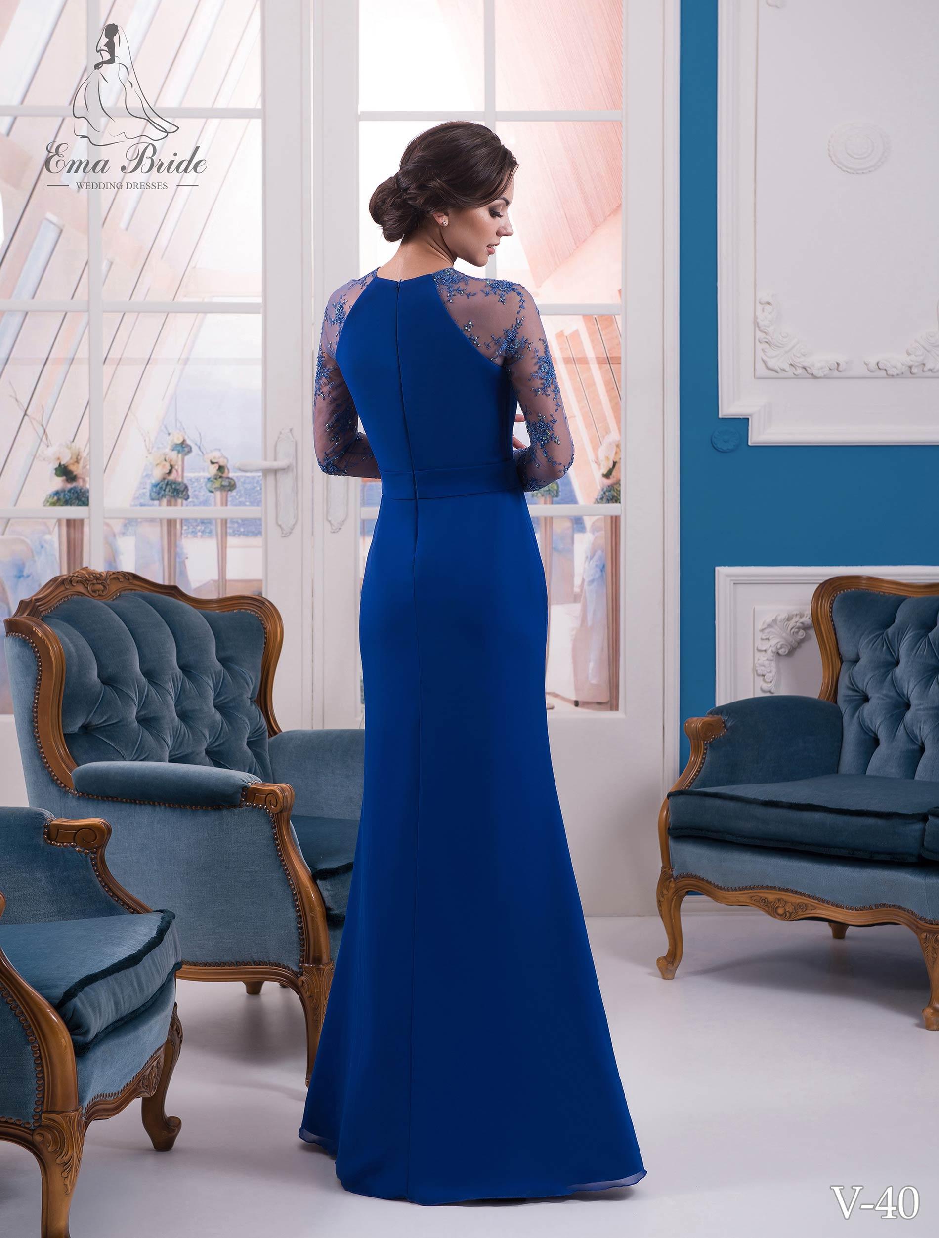 Evening dress v-40 on wholesale-2
