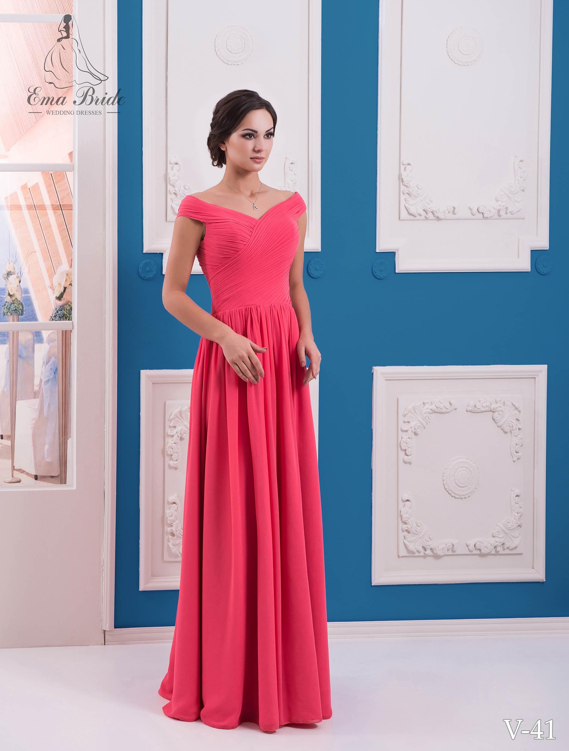 Evening dress v-41 on wholesale
