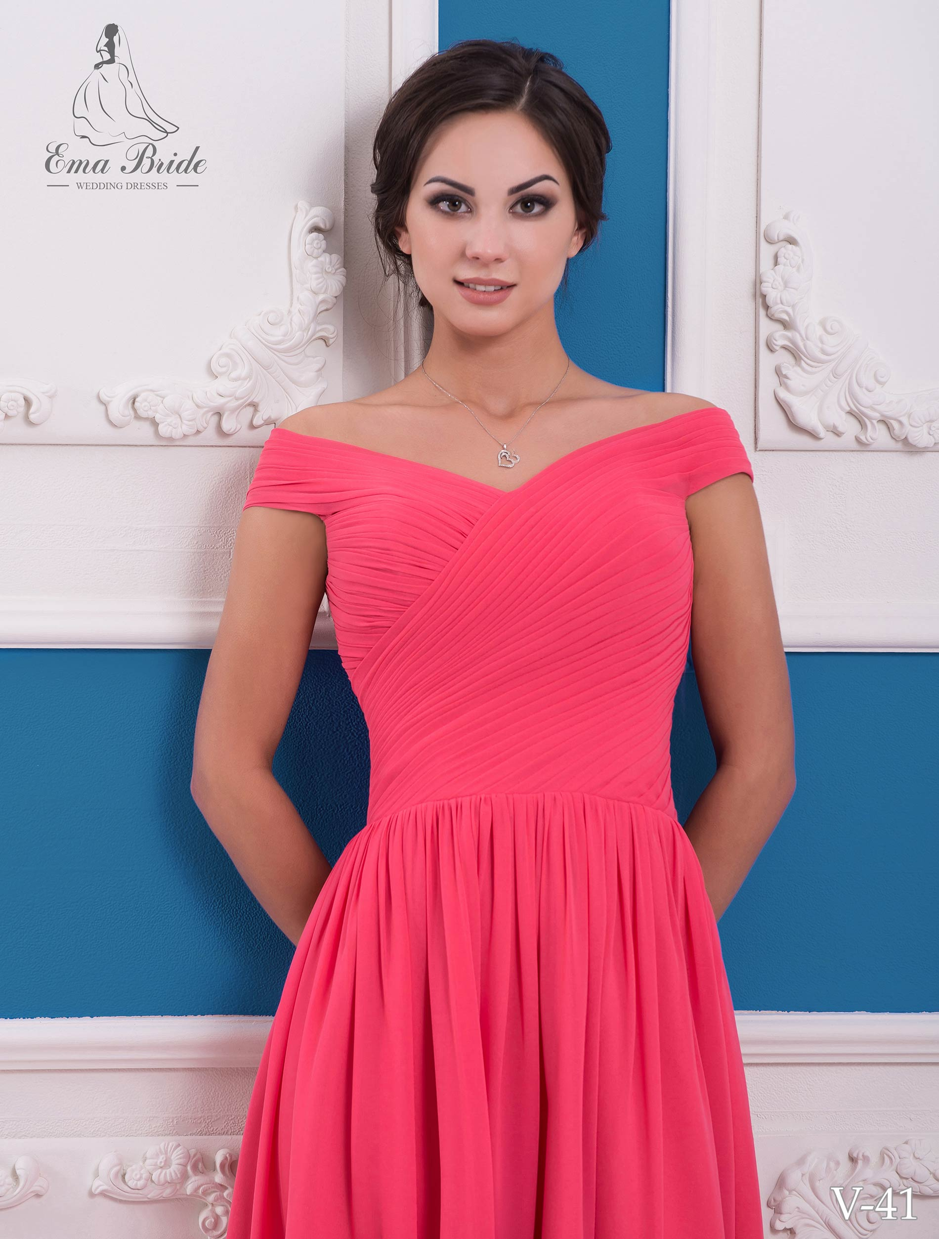 Evening dress v-41 on wholesale-1