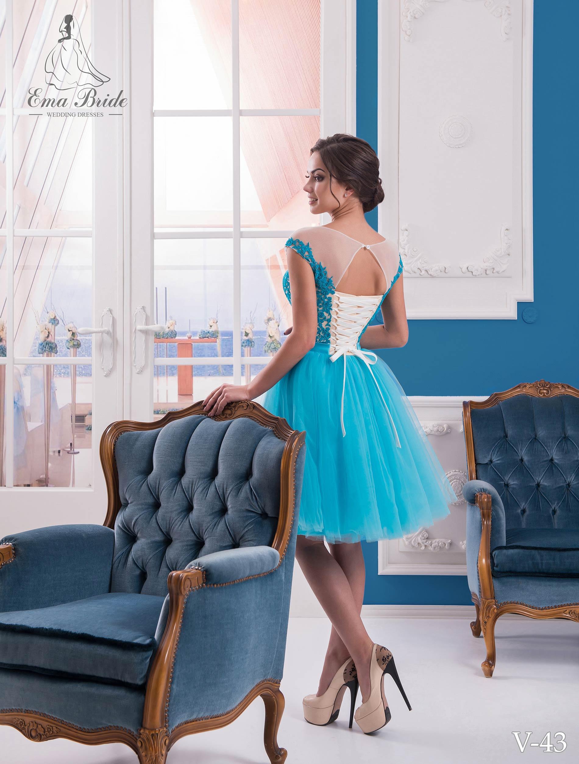 Evening dress v-43 on wholesale-2