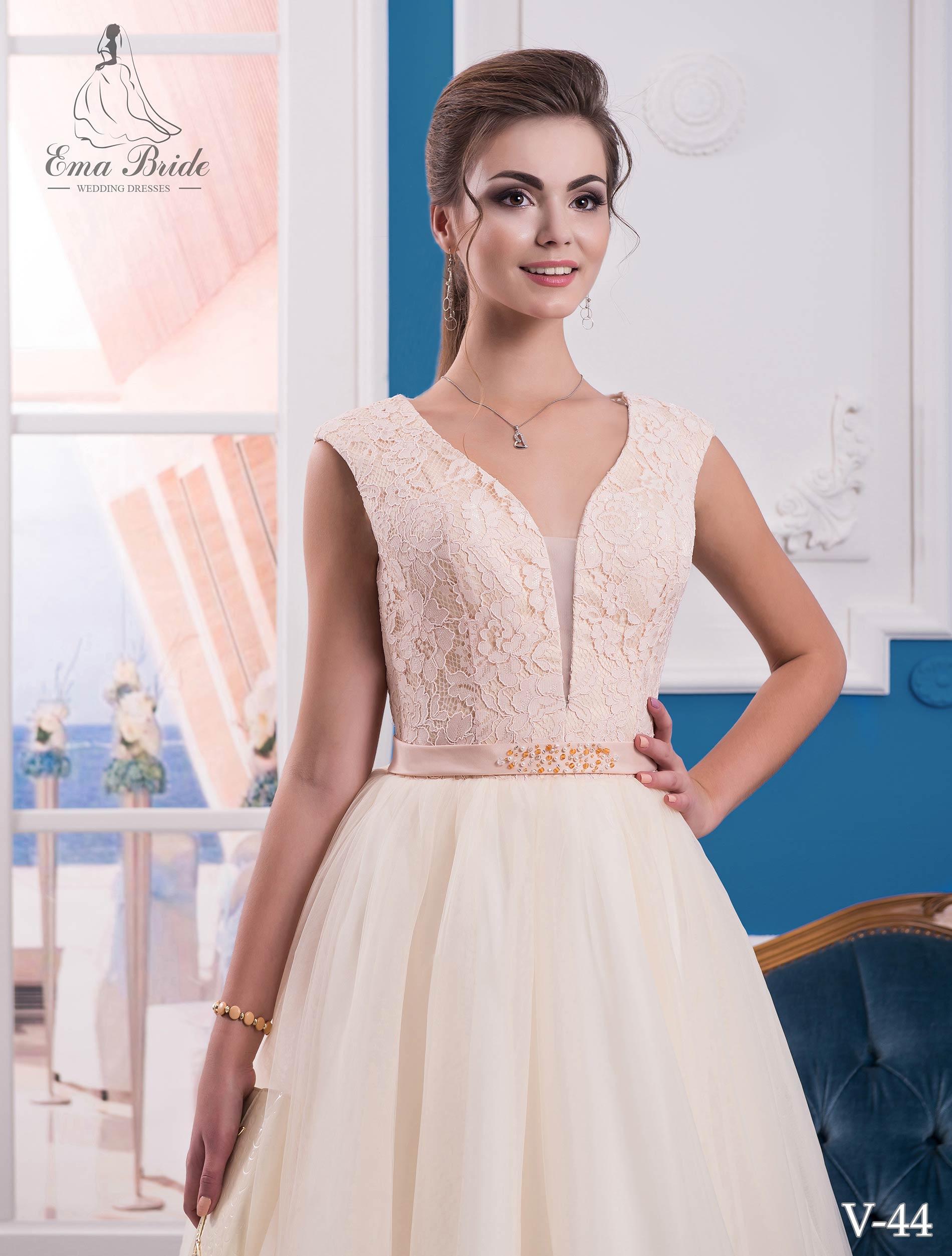 Evening dress v-44 on wholesale-1