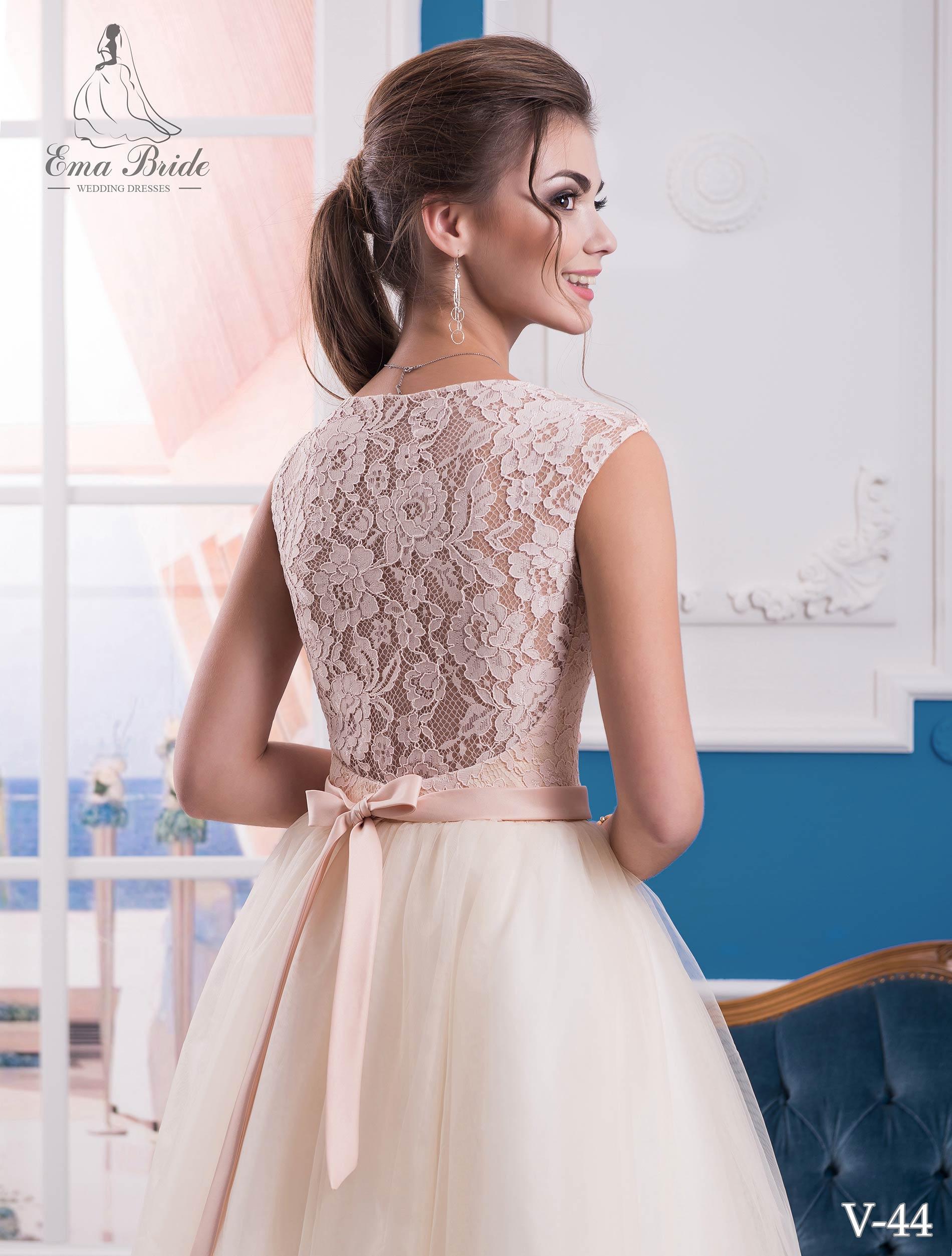 Evening dress v-44 on wholesale-3