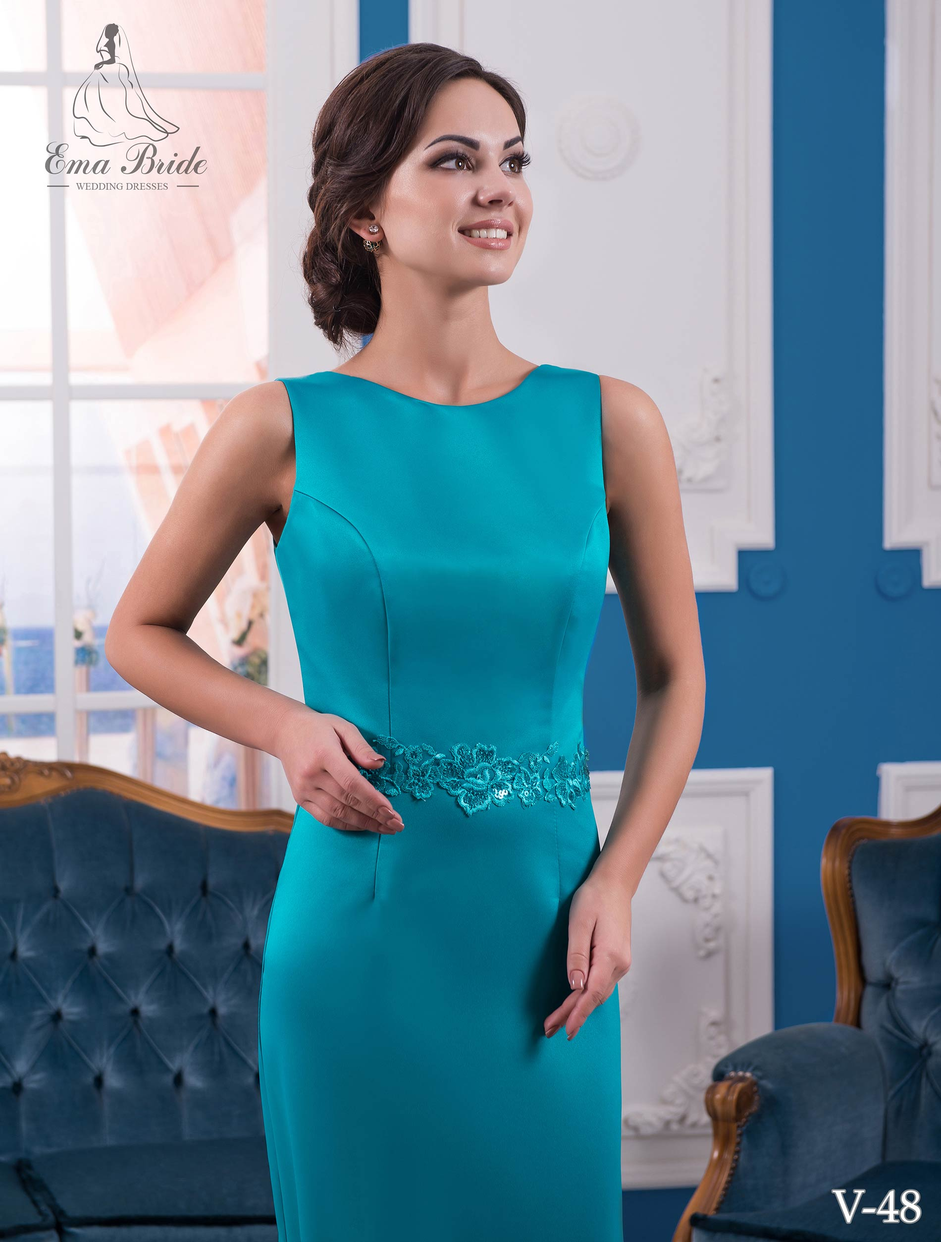 Evening dress v-48 on wholesale-1