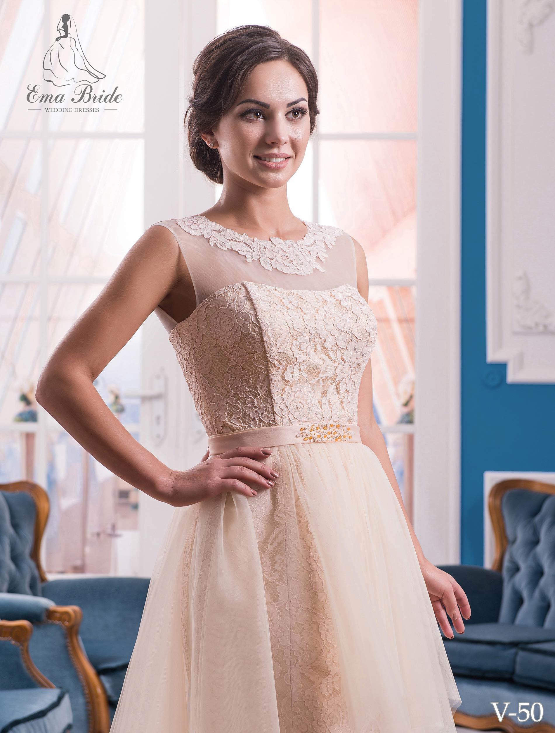 Evening dress v-50 on wholesale-1