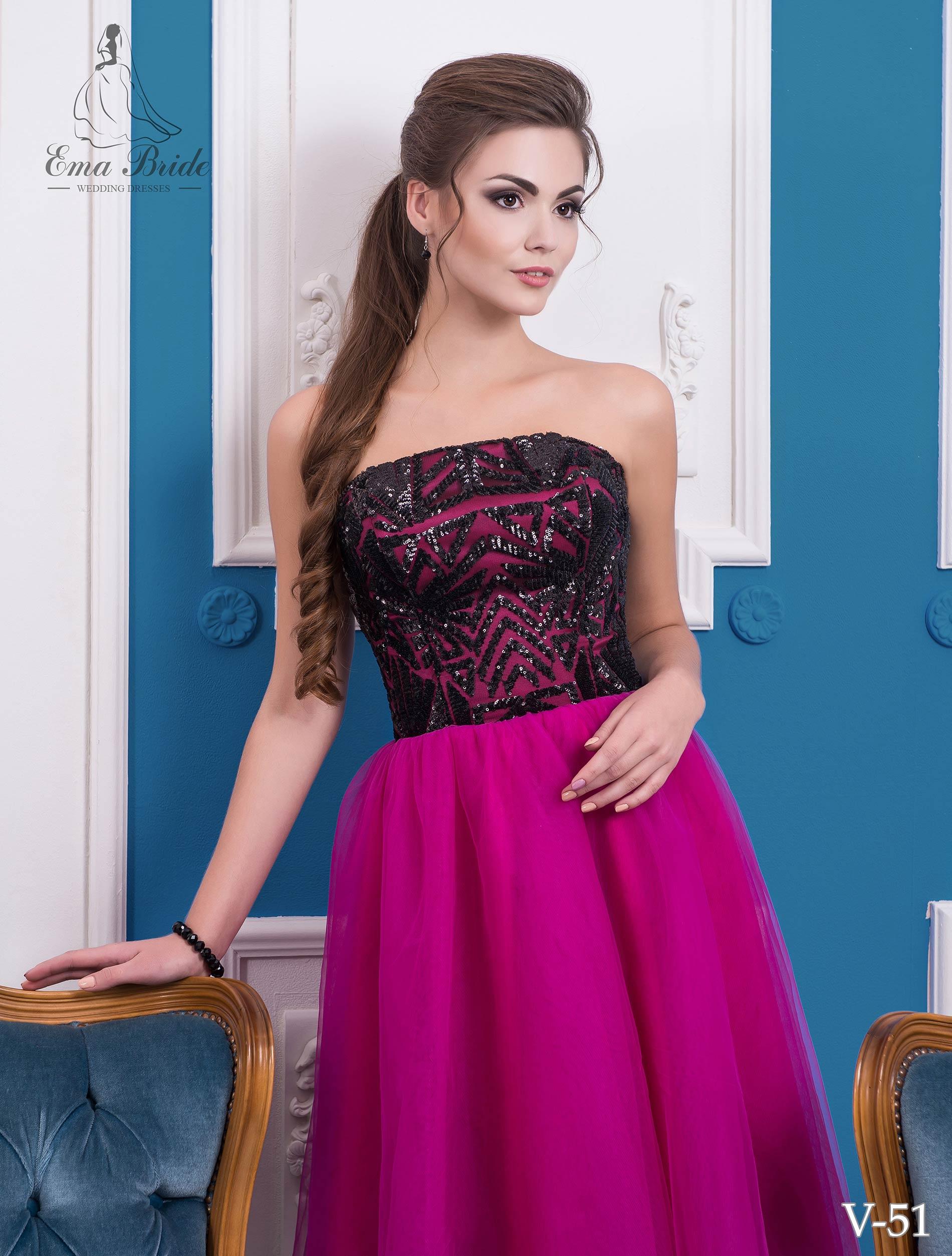 Evening dress v-51 on wholesale-1